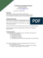 Curriculum Vita for Jamal Hassan Mohamu1
