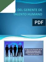 El Rol Del Gerente de Talento Humano