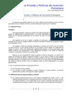 La Empresa Privada y Políticas de Inversión Extranjera