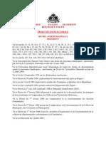 Version Finale de l'Avant Projet Loi Electorale soumis par la Presidence