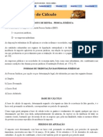 IRPJ - IMPOSTO DE RENDA - PESSOA JURÍDICA
