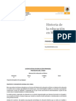 Historia de La Educacion en Mexico. CLASE DIDACTICA