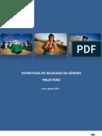 Estrategia de Igualdad de Genero de PNUD Peru