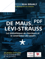 Journees Detudes - De Mauss a Levi-strauss - Papier