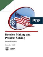 FEMA Decision Making & Problem Solving