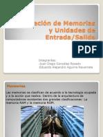 Clasificación de Memorias y Unidades de Entrada