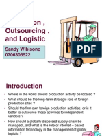 Global Production Outsourcing and Logistic