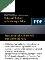 Nuke Sub Arihant_IN's Pride