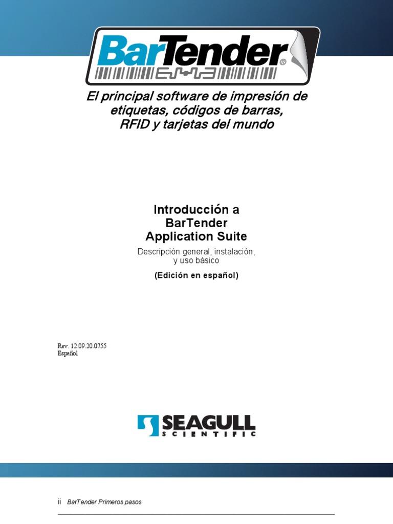 Gsm Esp Bartender Manual | Point And Click | Printer (Computing)