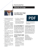 Arjun Singh - Candidate Statement. 2013 UBCM Director at Large Elections.