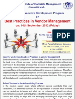 Best Practices- Vndr Mgt