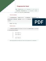 Programación lineal y modelos de programacion lineal