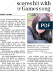 Singer scores hit with Summer Games song (Timaru Herald; 2013.08.23)
