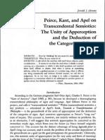 "Abrams, ""Peirce, Kant, Apel & Transcendental Semiotics"" [52pgs]"