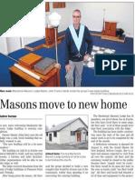 Masons move to new home (Timaru Herald; 2013.08.23)