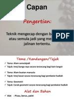 Corak Terancang-Capan, Lipatan&Guntingan, Resis
