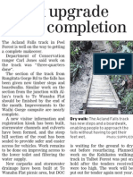 Track upgrade nears completion (Timaru Herald; 2013.