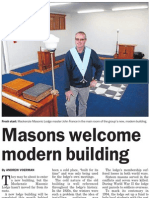 Masons welcome modern building (South Canterbury Herald; 2013.08.28)