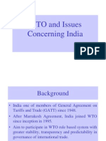 WTO Issues Concerning India