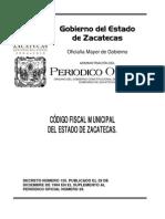 Código Fiscal Municipal para el Estado de Zacatecas