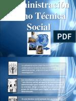 Administración como Técnica Social 123