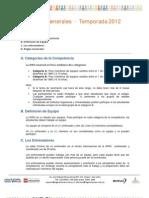 Reglas Generales WRO 2012