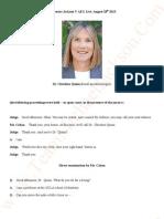 Transcripts - Katherine Jackson V AEG Live. August 28th 2013. Dr Christine Quinn.