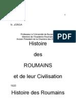 Iorga-histoire Des Roumains Chap.1