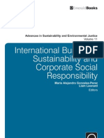 International Business, Sustainability & Corporate Social Responsibility by