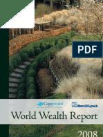 Capgemini report on wealth management 2008