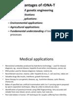 8. Adv n Disadv of rDNA Technology