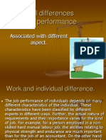 Unit 5 Individual Differences and Work Performance
