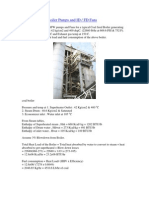 Calculations of Boiler Pumps and ID