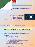 Changement de régime fiscal version du 08 12 11