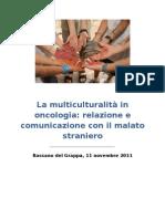 La multiculturalità in oncologia