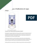 Filtros de Agua o Purificadores de Agua Ecuador