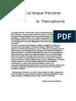 La Langue Francaise Et