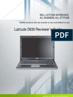 Latitude D630 Reviewer's Guide