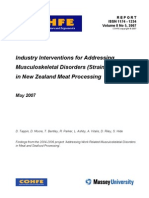 Industry Interventions for Addressing MSD in NZ Meat Processing