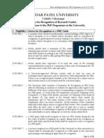 Rules Regarding Phd