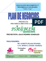 DISCOTECA MÓVIL PSICODELIA PLAN DE NEGOCIO 2008 P´ENVIAR