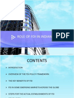 Role of Fdi in Indian Economy11