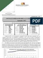 Nouveaux Indices des prix à la consommation - Septembre 2011 (INSTAT - 2011)