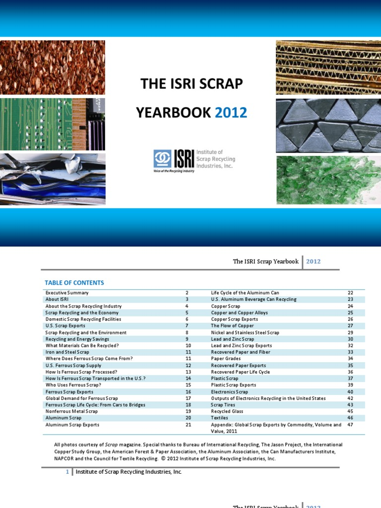 The Isri Scrap Yearbook 2012 Final | Scrap | Recycling