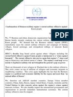 Statement Regarding Karen Refugee Crisis (International-Public Release)