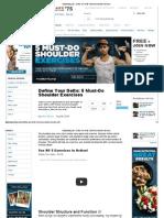 5 Must Do Shoulder Exercises