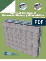 NCMA Thermal Catalog of Concrete Masonry Assemblies