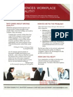 Workplace Writing Quality Research Brochure