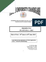 Pu Chandigarh IndiaCETPG13
