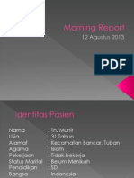 Morning Report 12 Agustus 2013